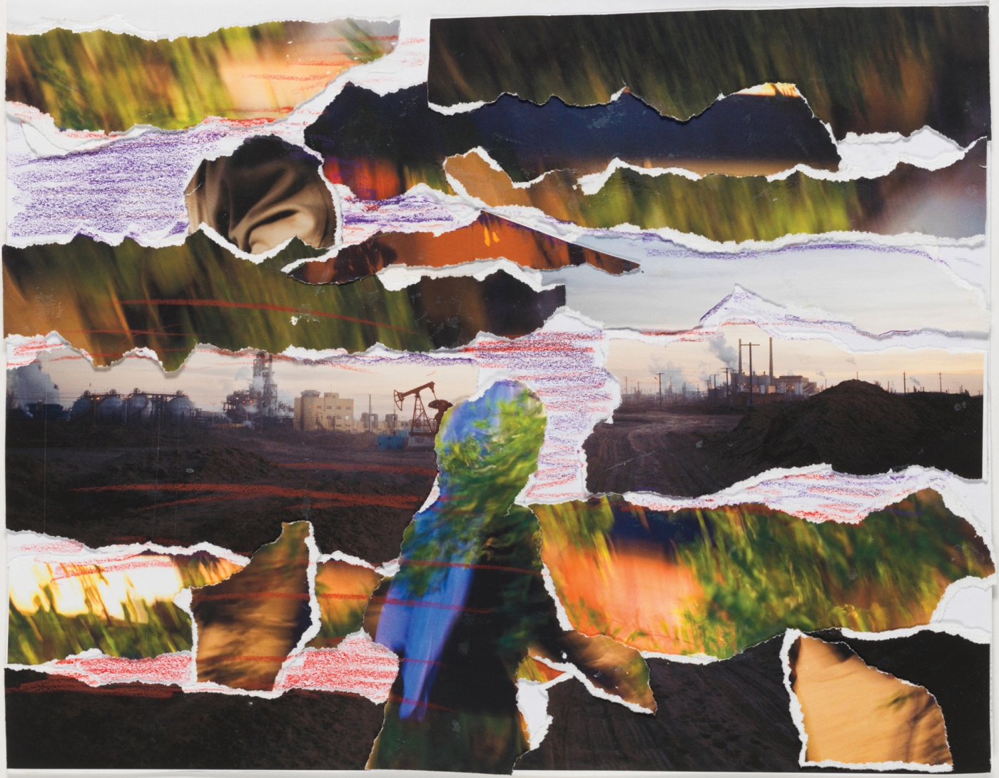Image of a photo collage done by one of Carolyn Drake's subjects.
