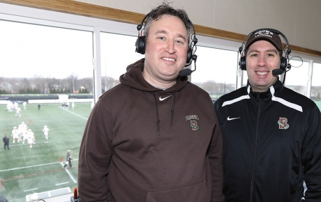 Photo of Mike and Mike, sportscasters.