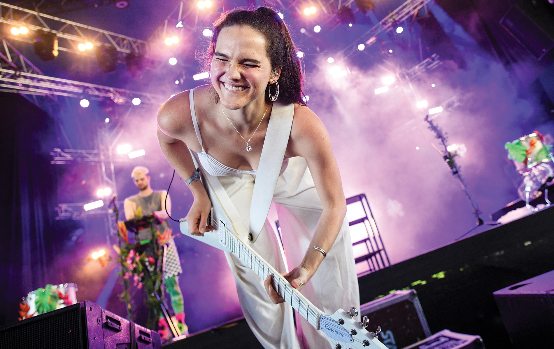 Photograph of the band Sofi Tukker performing