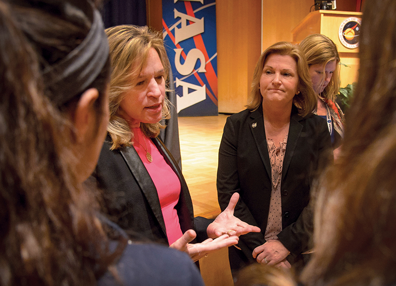 Ellen Stofan speaks at a NASA Women in Action event in 2016.