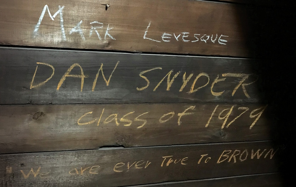 Graffiti on a wooden wall