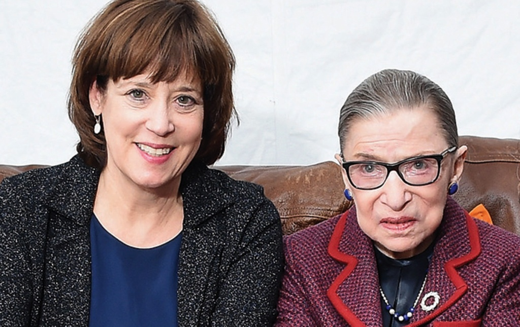 photo of Betsy West '73, Ruth Bader Ginsberg, and Julie Cohen at Sundance