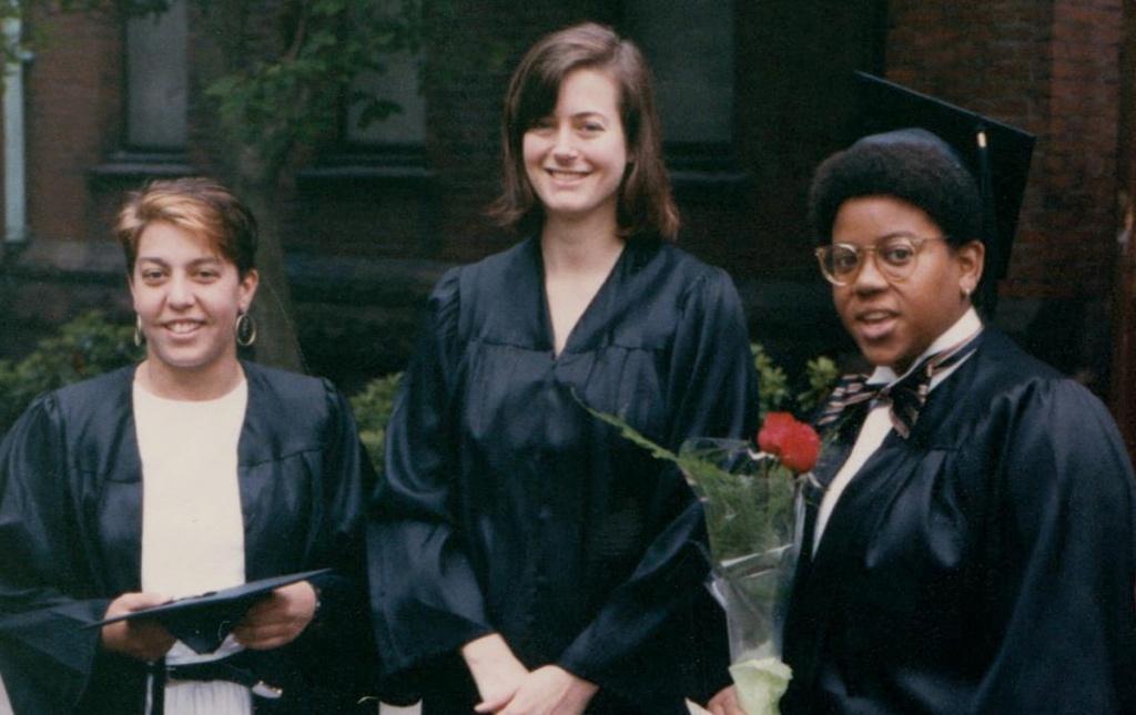Three friends in 1988
