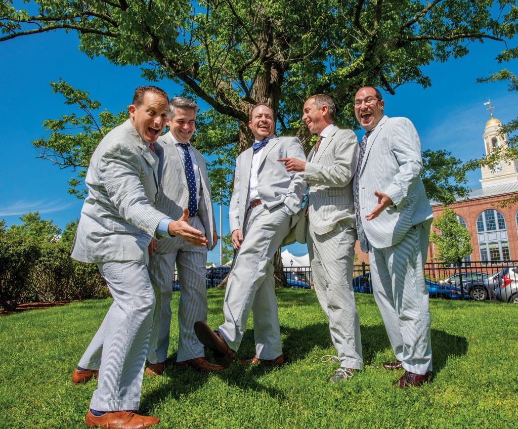 Photo of five seersucker friends
