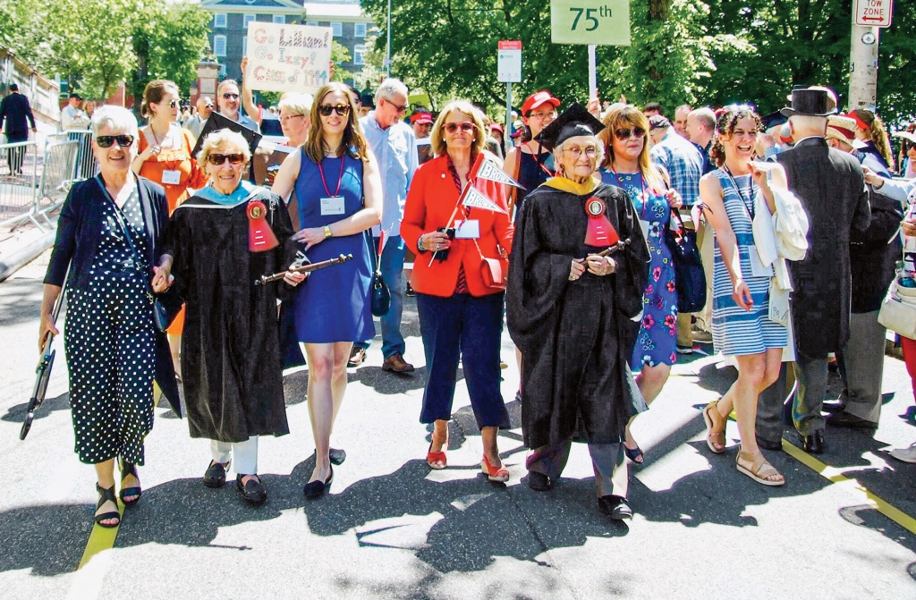 Lillian Carneglia Affleck '44 Commencement walk