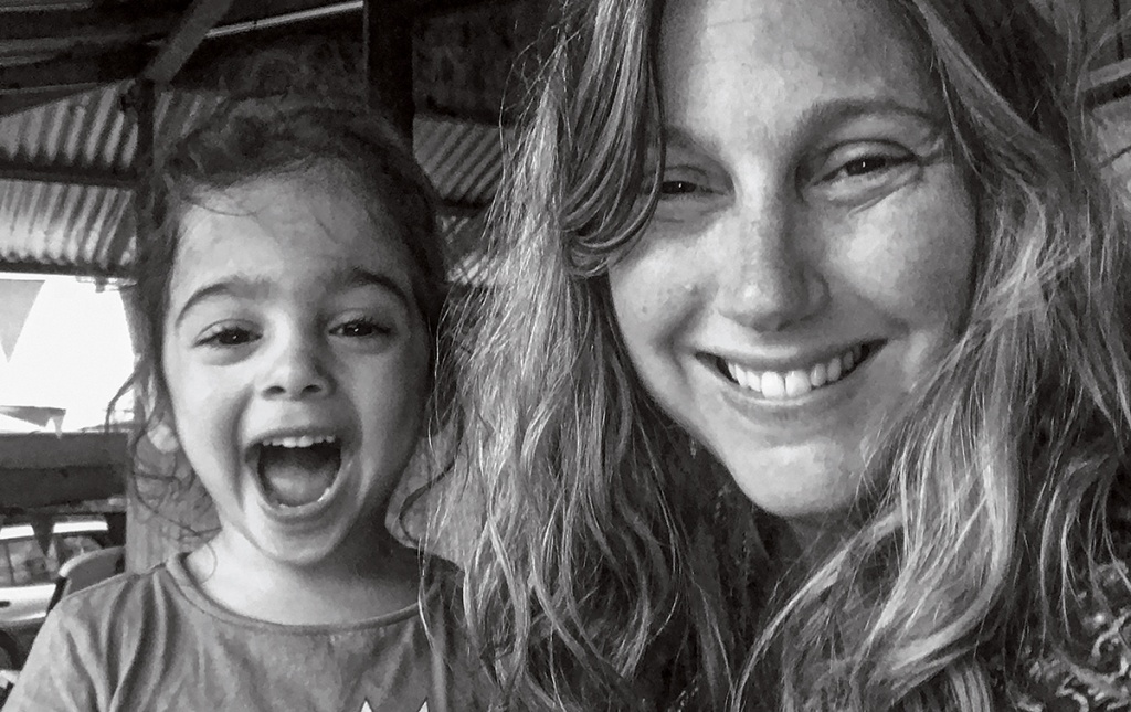 Image of author and Brown alum Sarah DiGregorio and daughter