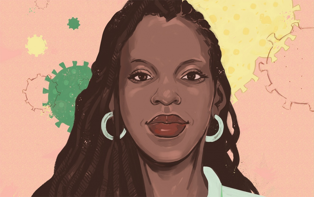 Dr. Nicole Alexander-Scott illustration by Noa Denmon