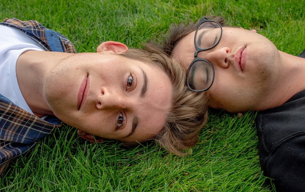 Oscar Rousseau '21 (left) and Ben Doyle '21