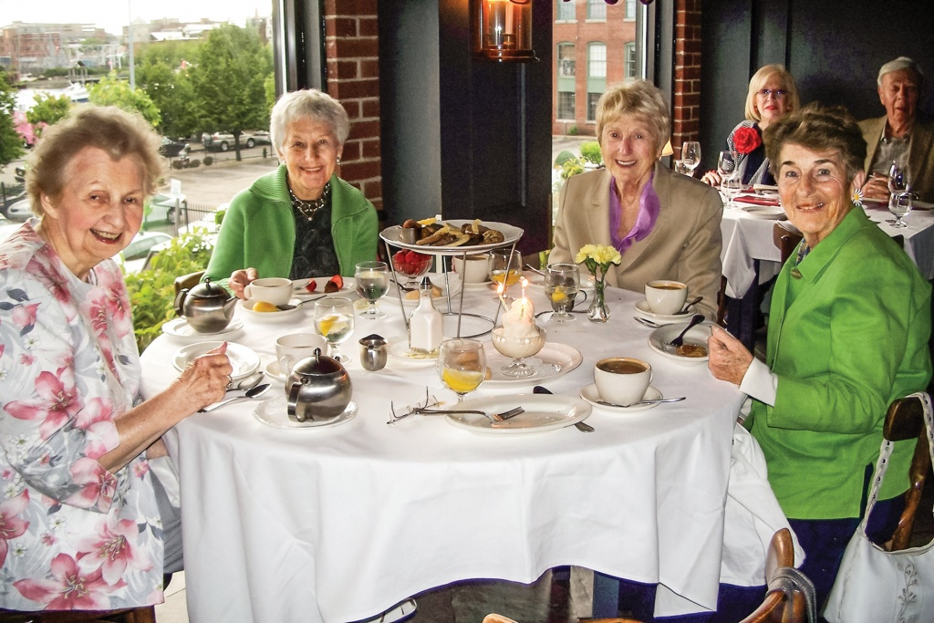 Marjorie Logan Hiles, Lois Jagolinzer Fain, Glenna Robinson Mazel and Dolores DiPrete