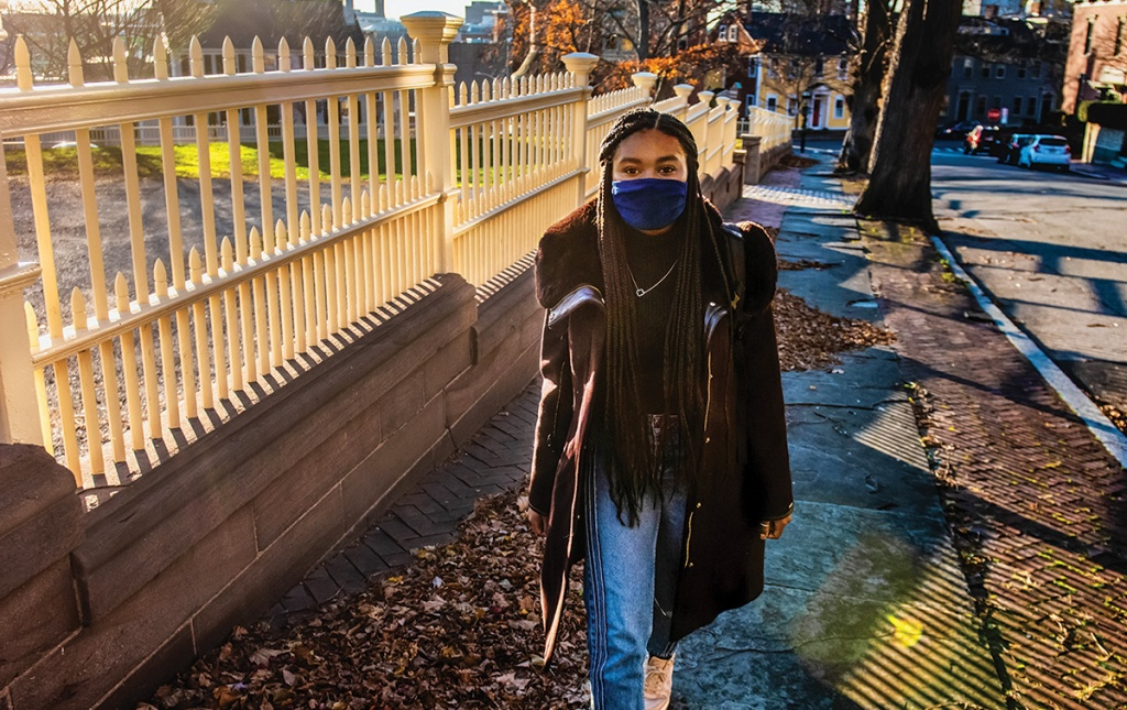 Kimberly Collins '22 on Campus Hill