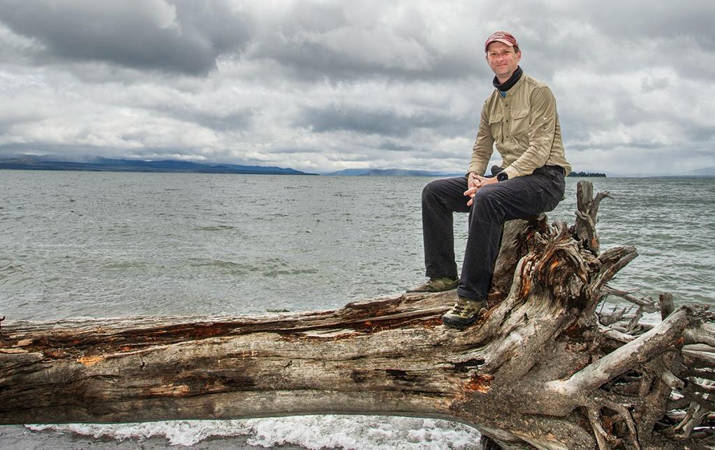 Image of Doug MacDonald at Yellowstone Lake