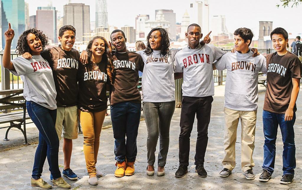 Image of members of the TEAK fellowship Brown University