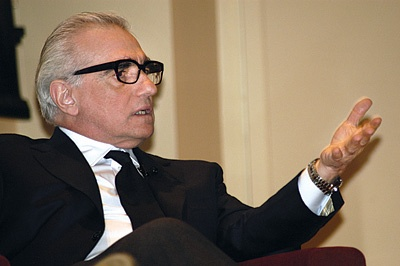 Photo of Martin Scorsese speaking.