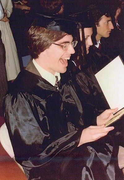 Photo of Randy Pausch at graduation.