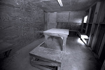 Photo of an interrogation room.