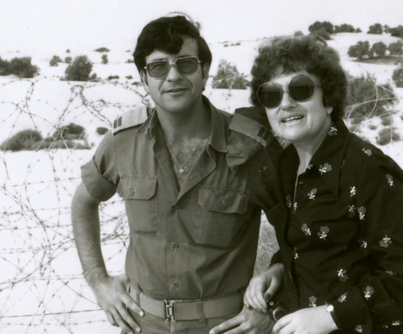 Bartov in Israel with his mother in 1975.