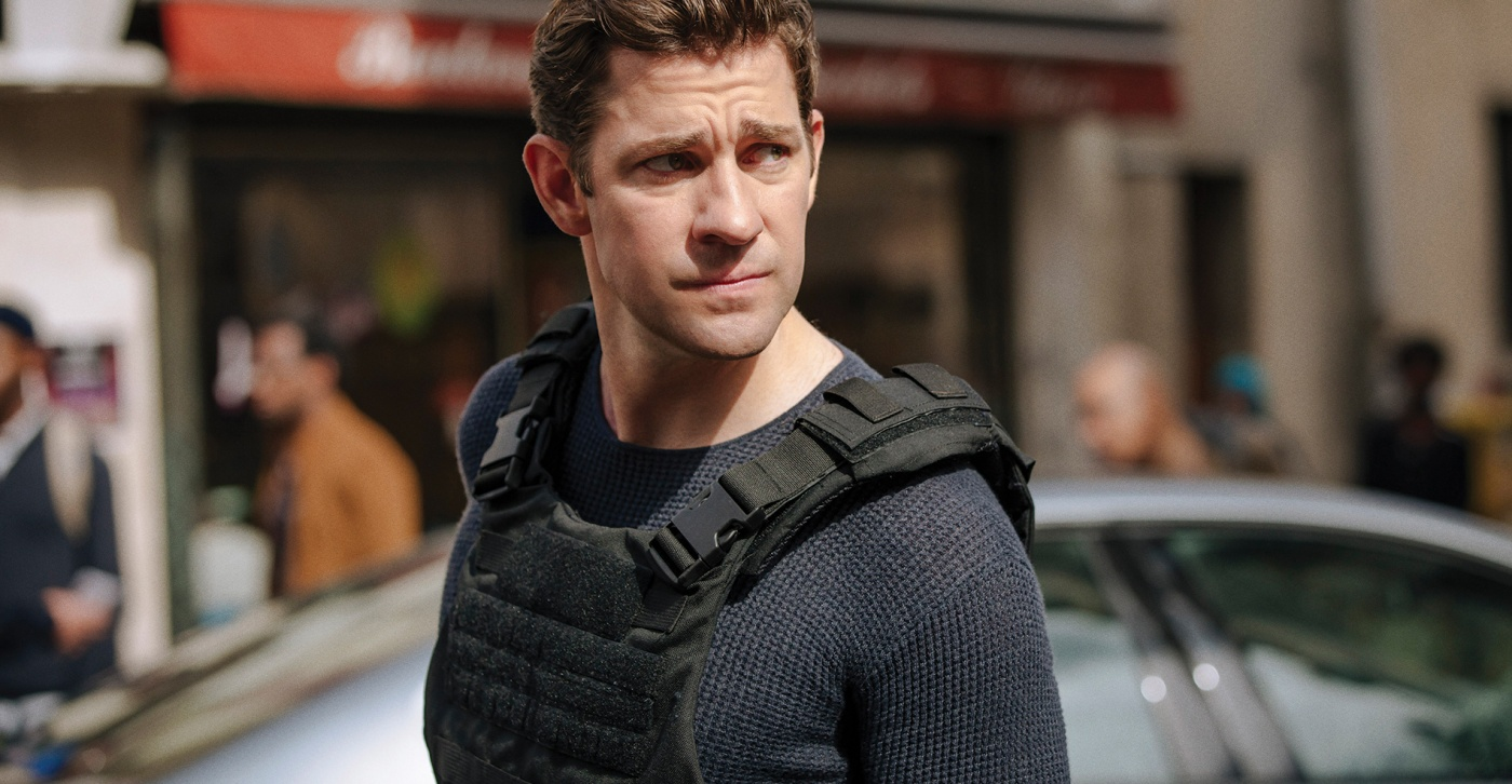 John Krasinski on the Jack Ryan set