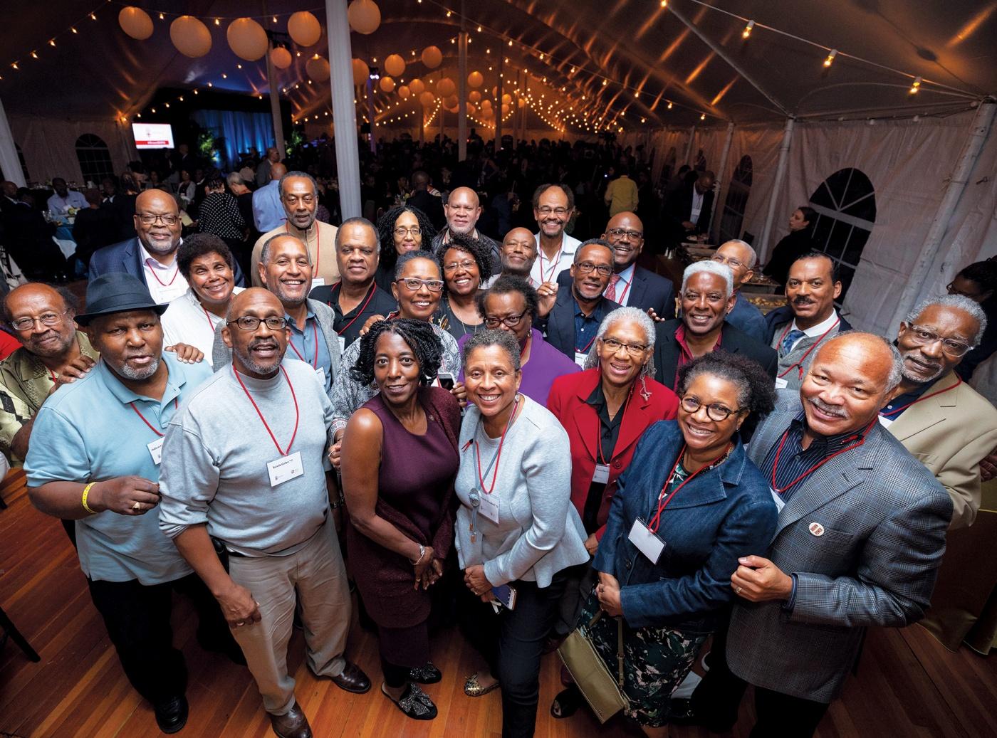 Black Alumni Reunion group photo.