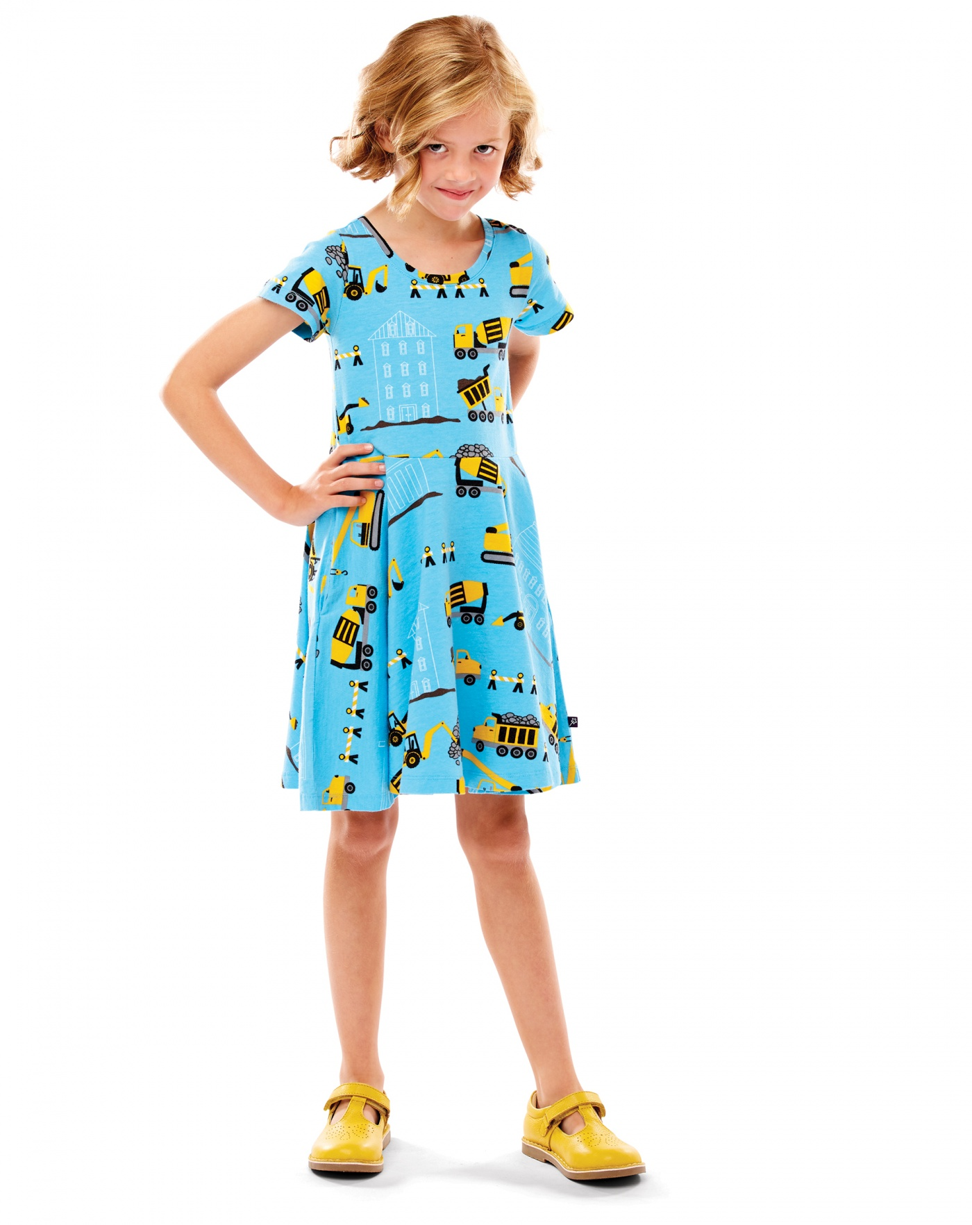 construction print dress
