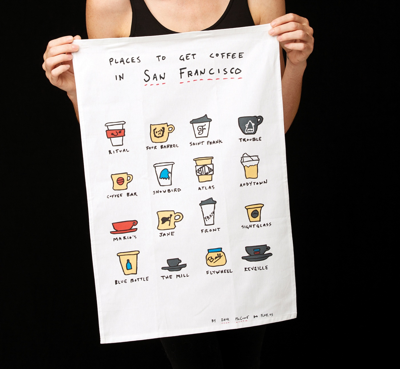 SF coffee spots towel