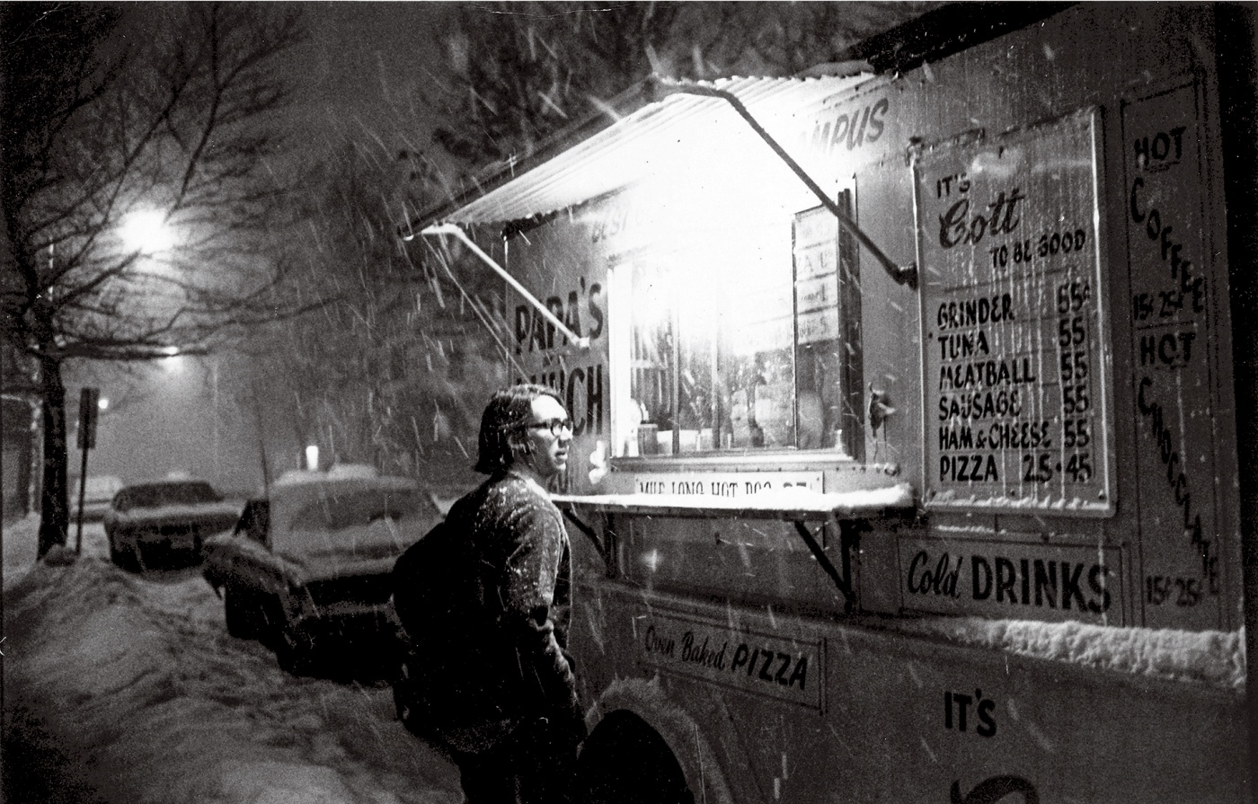Neither Snow Nor Gloom of Night stopped Papa's Lunch Truck