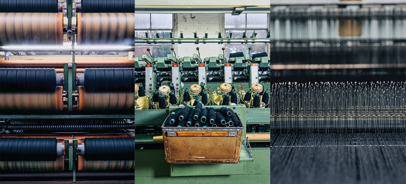Spindles and looms at two of American Woolen's revived factory buildings