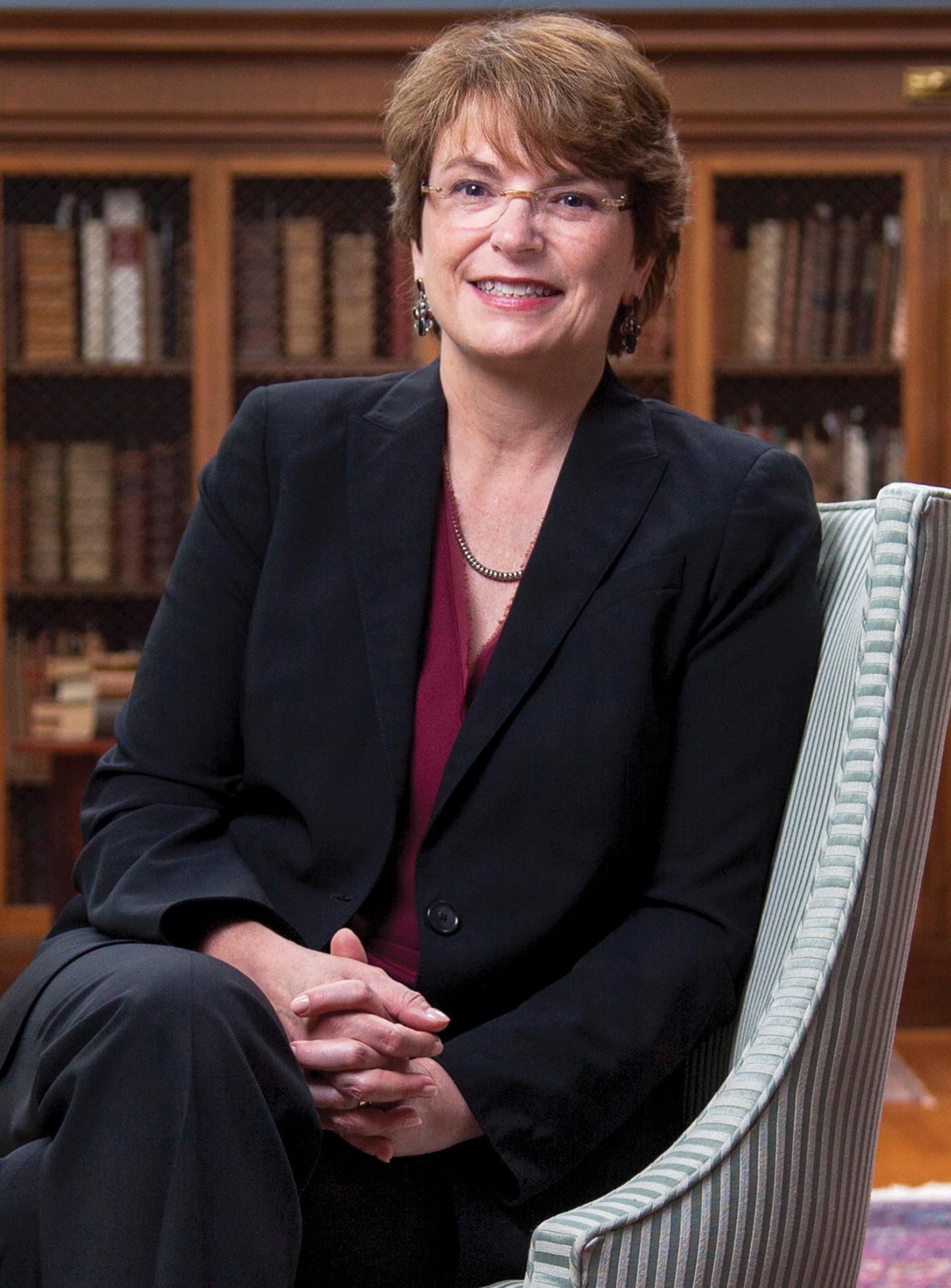 formal portrait of Christina Paxson