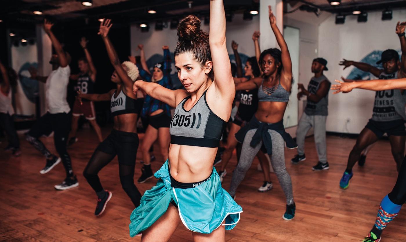 Photograph of Sadie Kurzban '12 dancing