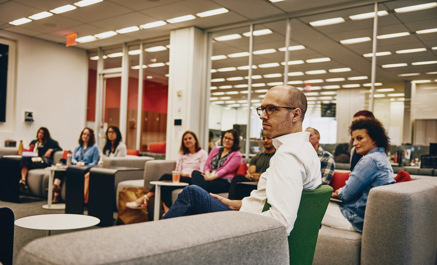 AG Sulzberger conducts a meeting at the NYT
