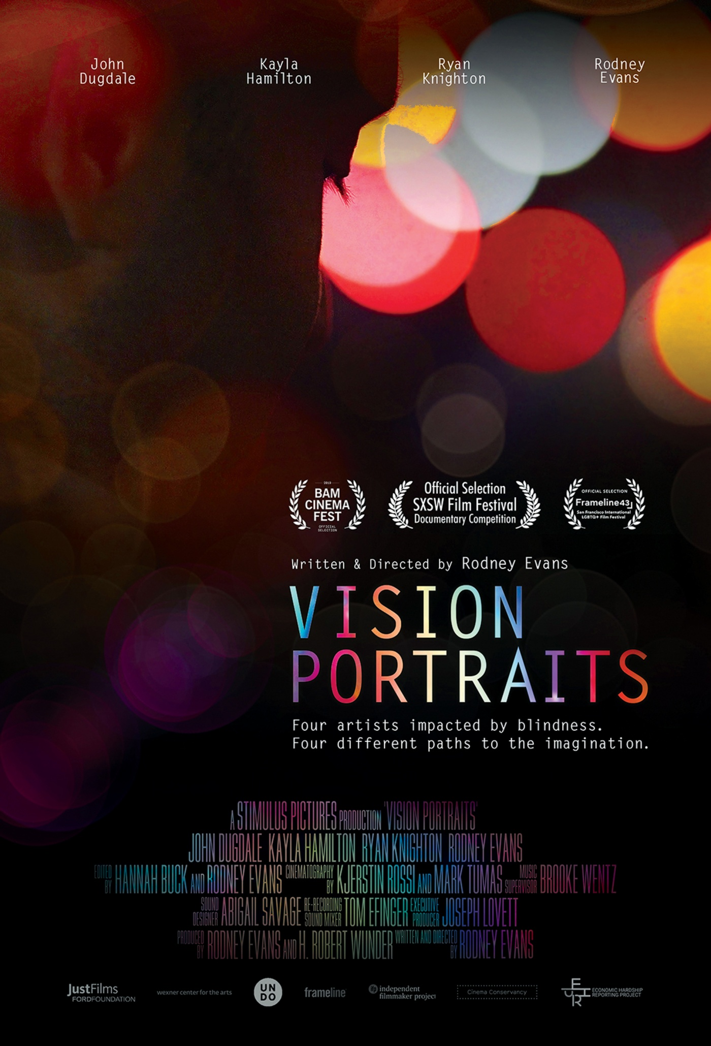 "Film poster for ""Vision Portraits"""
