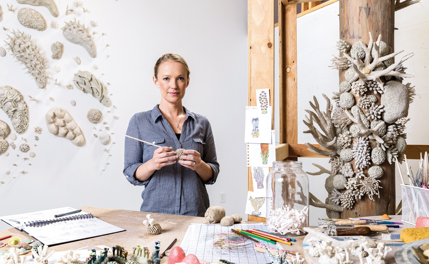 Courtney Mattisson in her studio