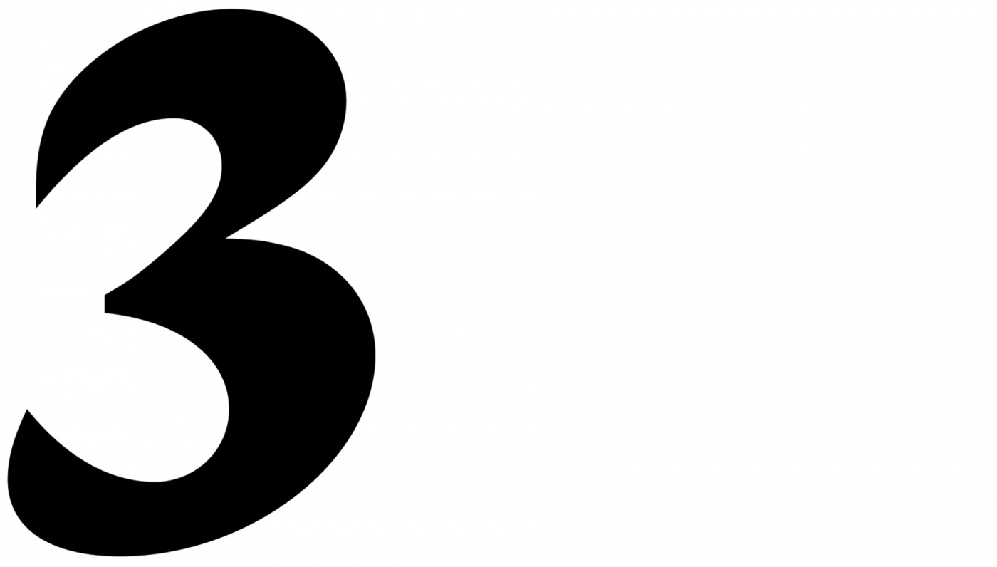 the numeral 3