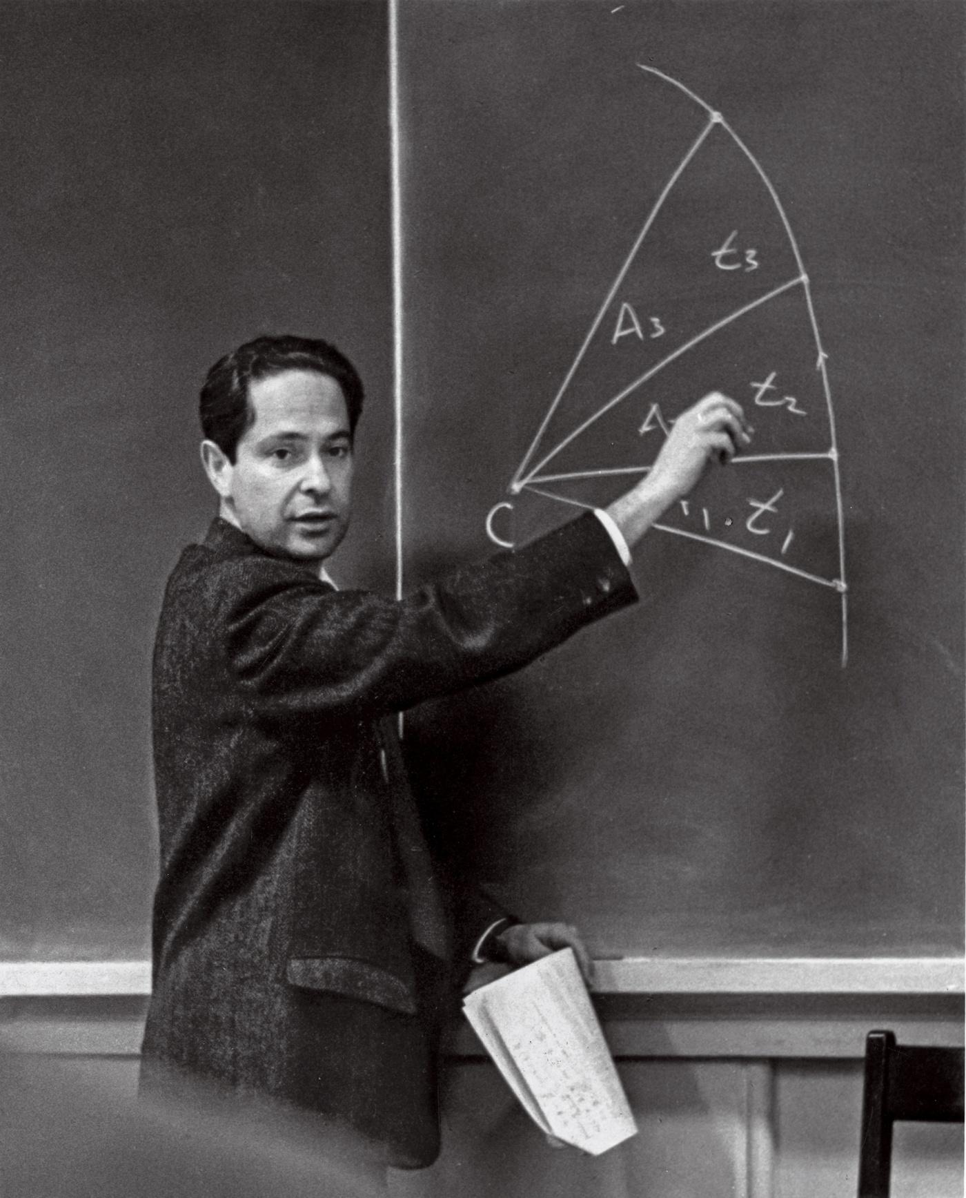 portrait of George Morgan at the blackboard
