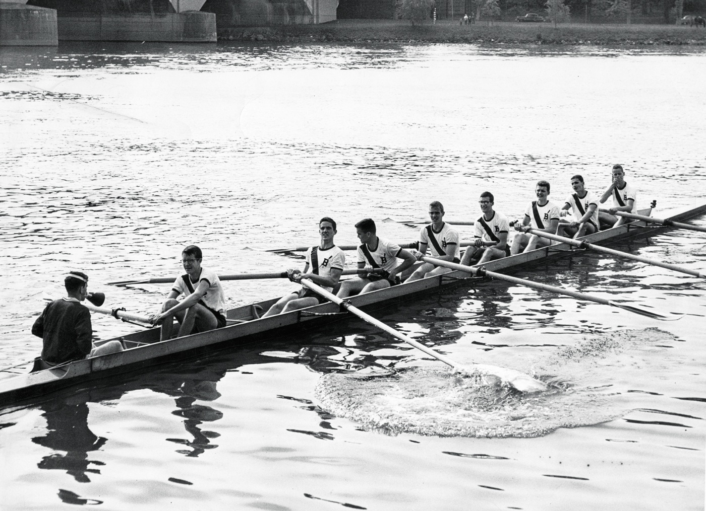 1960 crew on the water