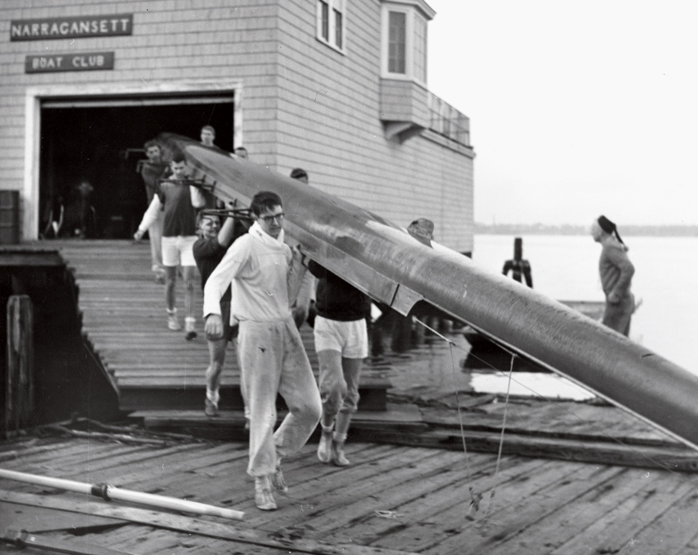 Rowing team in 1961 on Narragansett Dock