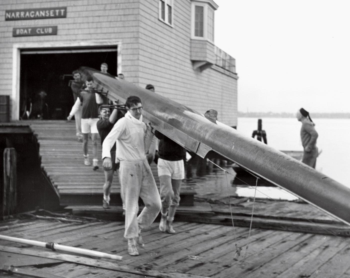 Rowing team in 1961 on Narragansett Dock
