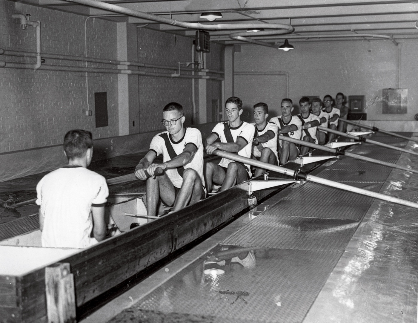 1960 crew training indoors