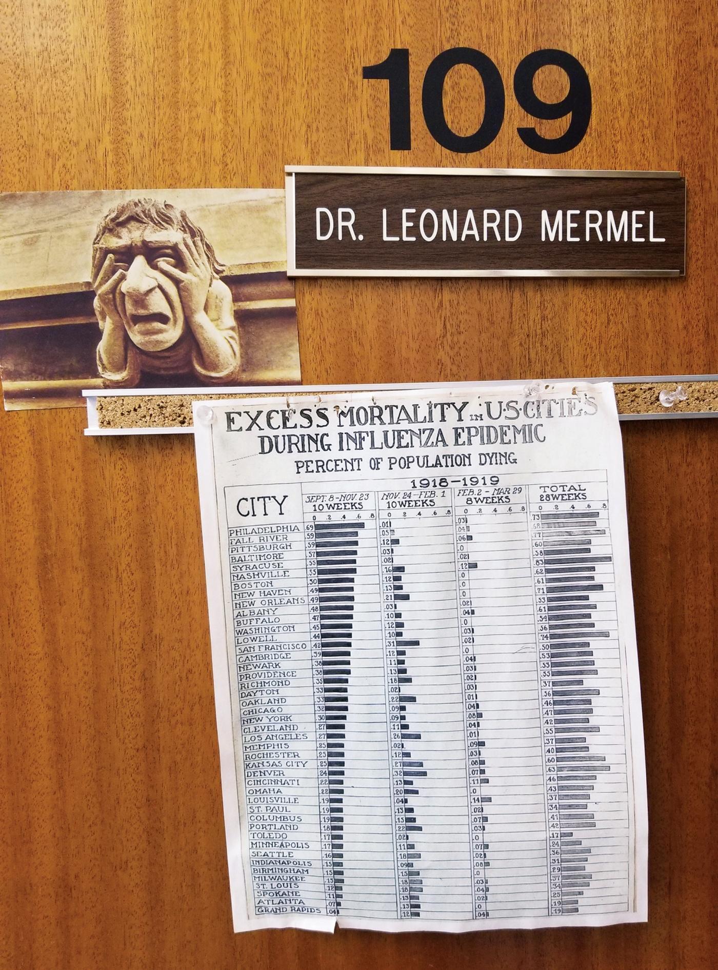 photo of Prof Mermel's door