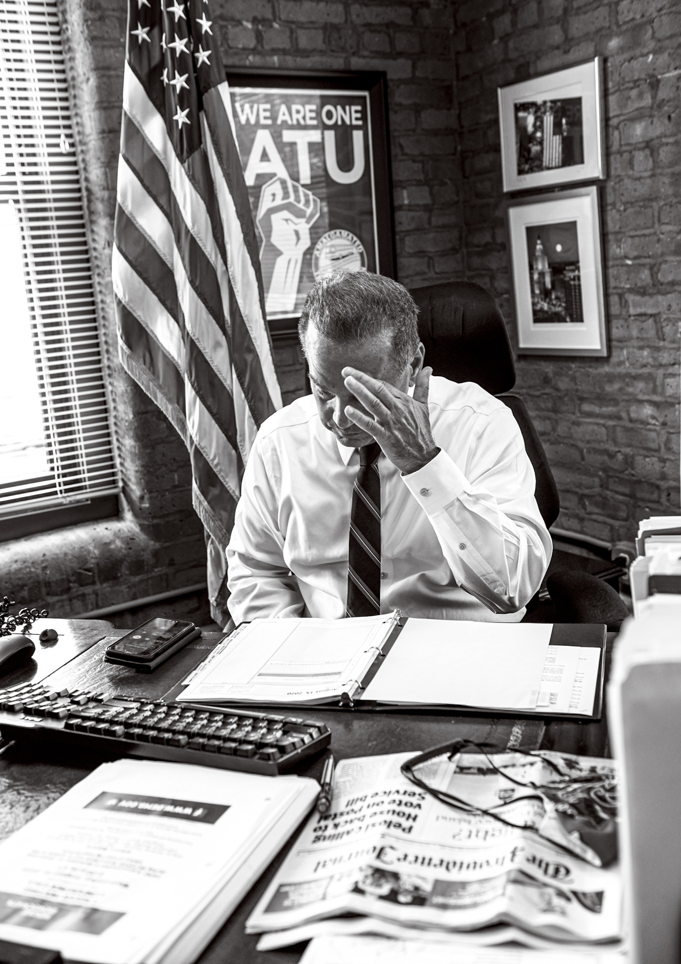 photo of Cicillini at his desk