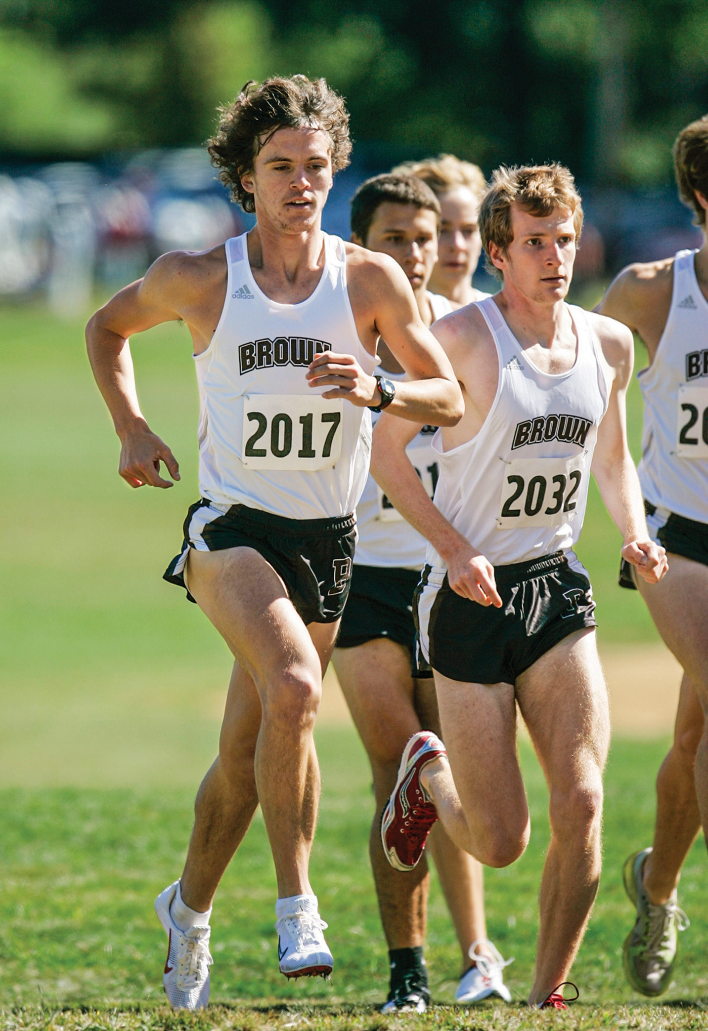 Runner Kevin Cooper '15 in a cross-country race