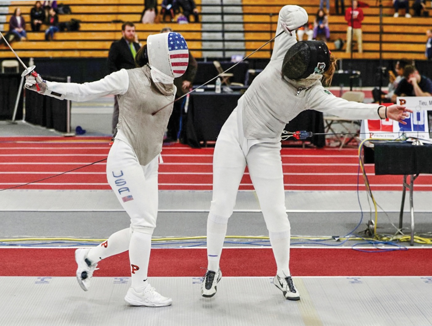 Fencer Anna Susini '22 in action