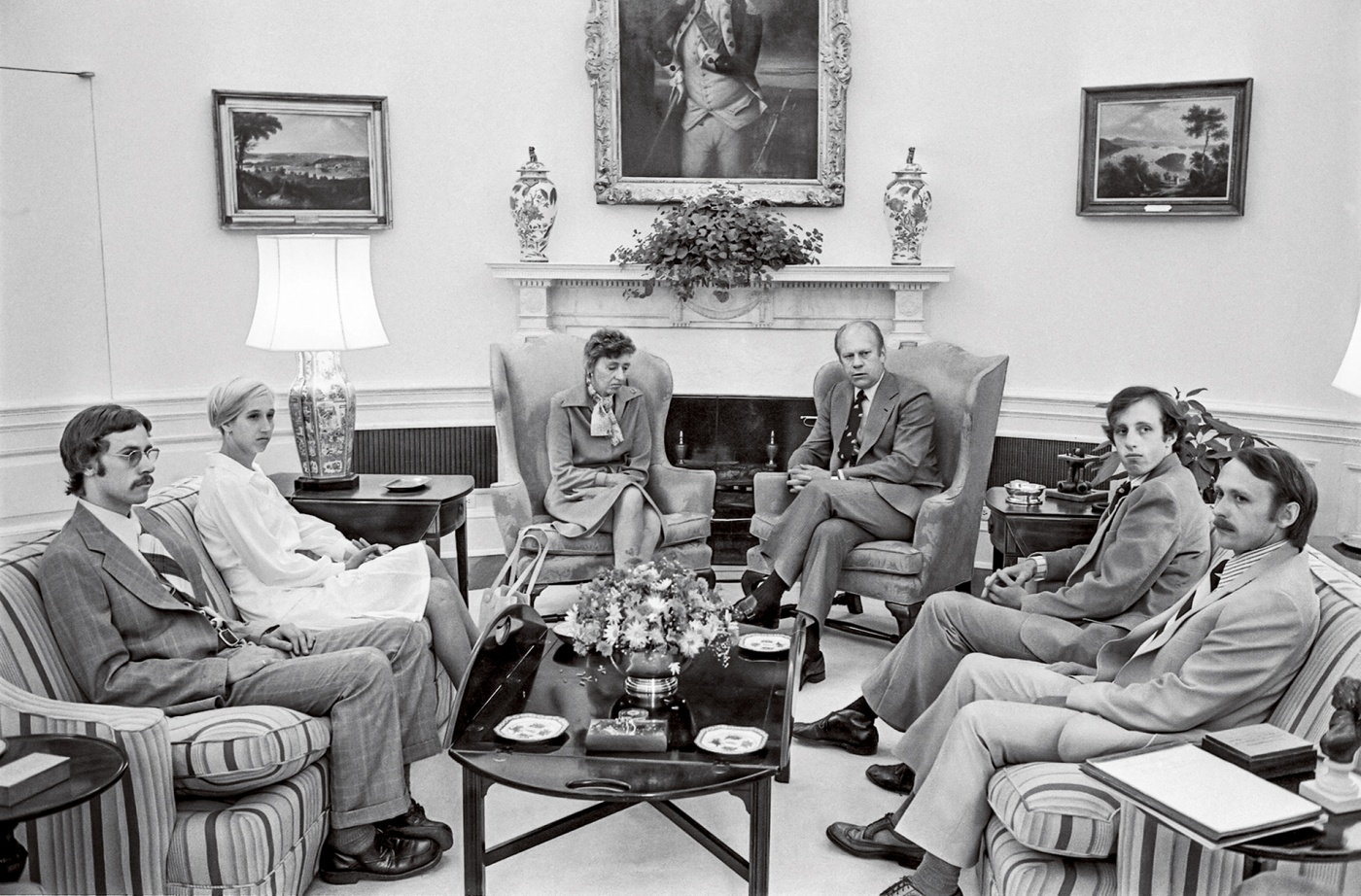 Olson family meeting with Gerald Ford