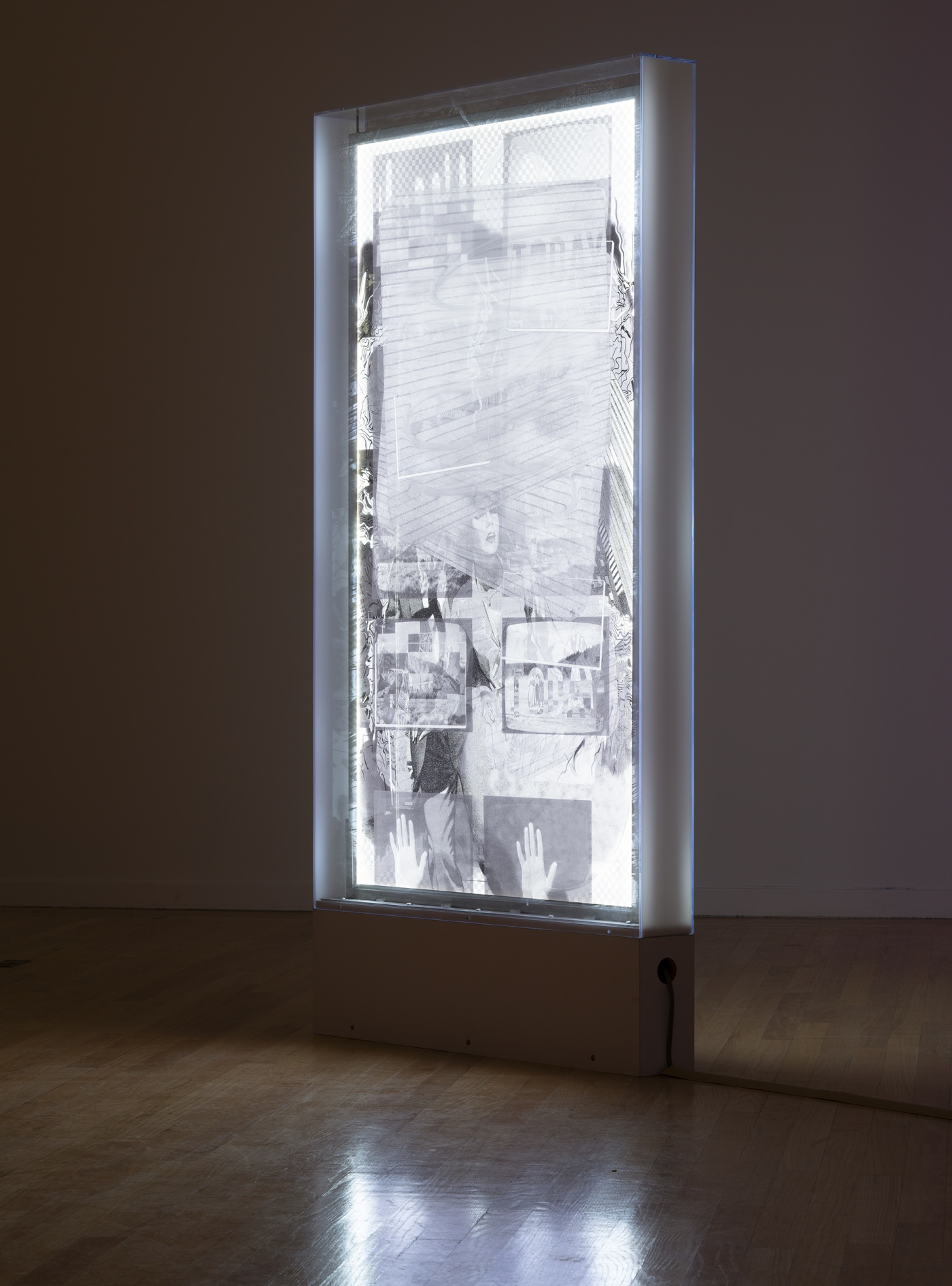 """slide 2_""""Jibade-Khalil Huffman: Now That I Can Dance,"""" 2020. Tufts University Art Galleries, installation view."""