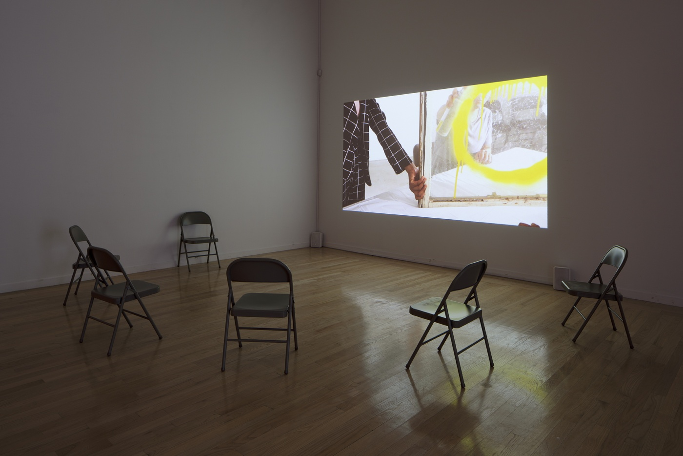 """slide 7_""""Jibade-Khalil Huffman: Now That I Can Dance,"""" 2020. Tufts University Art Galleries, installation view."""