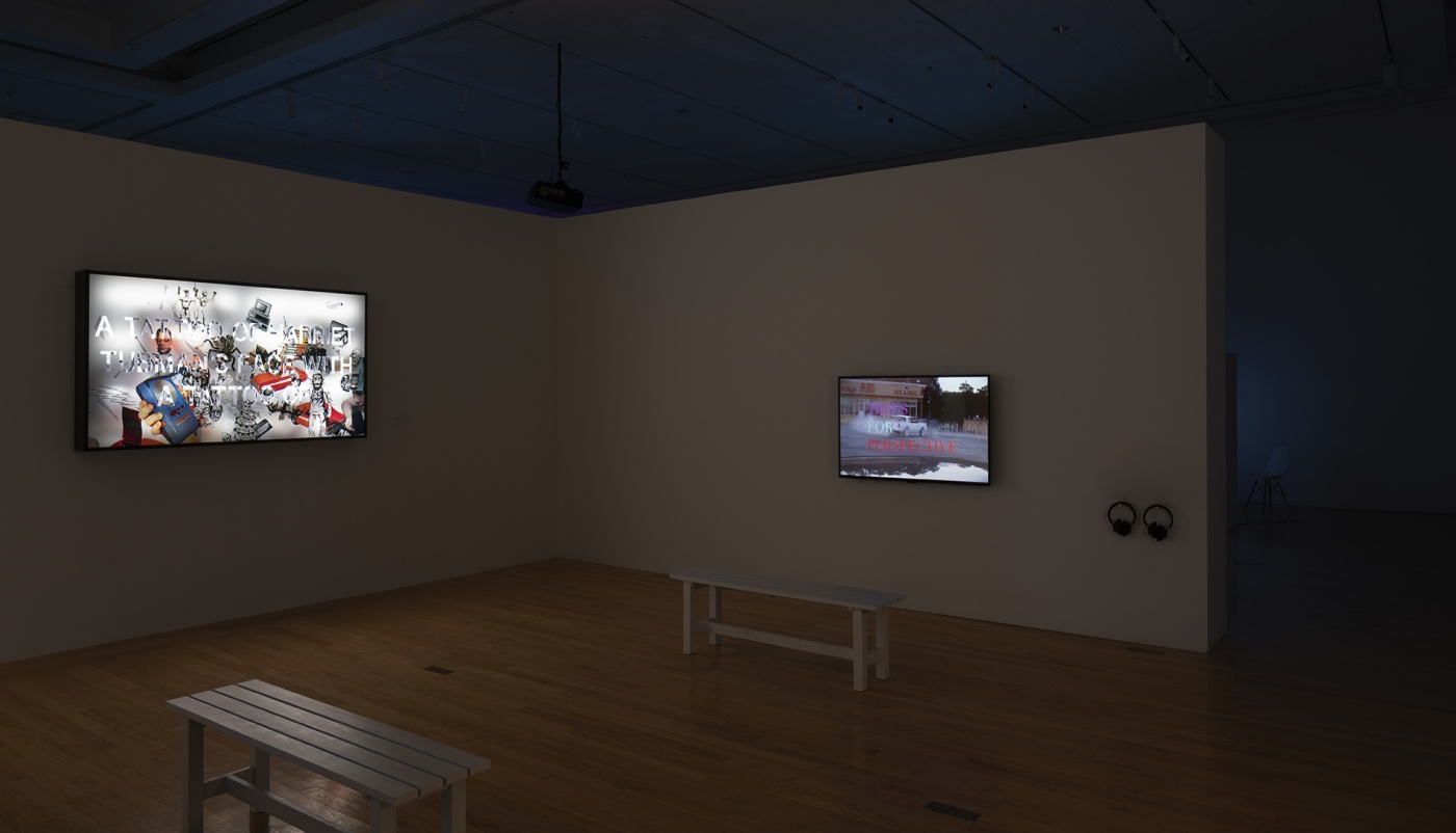 """slide 9_""""Jibade-Khalil Huffman: Now That I Can Dance,"""" 2020. Tufts University Art Galleries, installation view."""