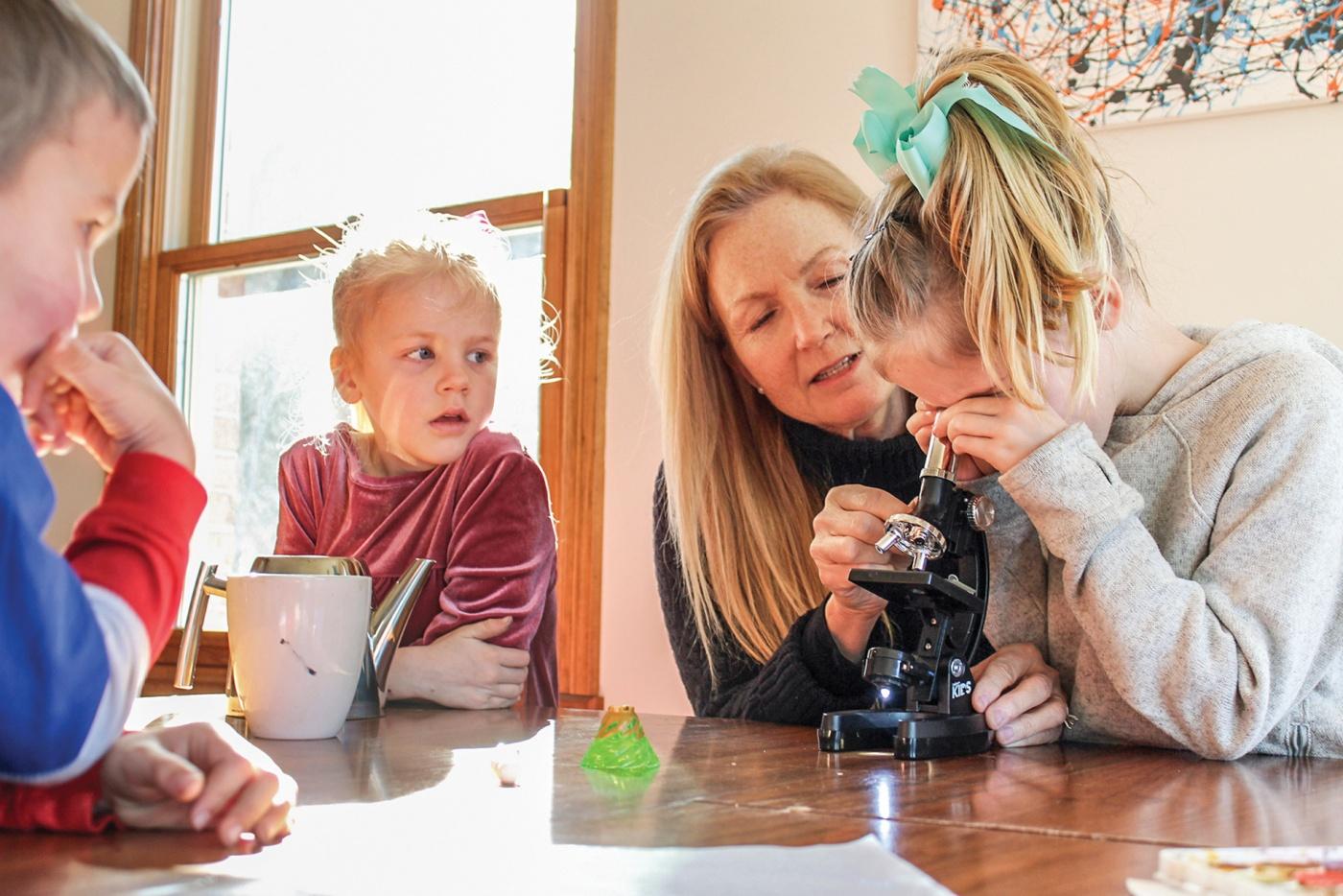 Donna Baer with grandchildren
