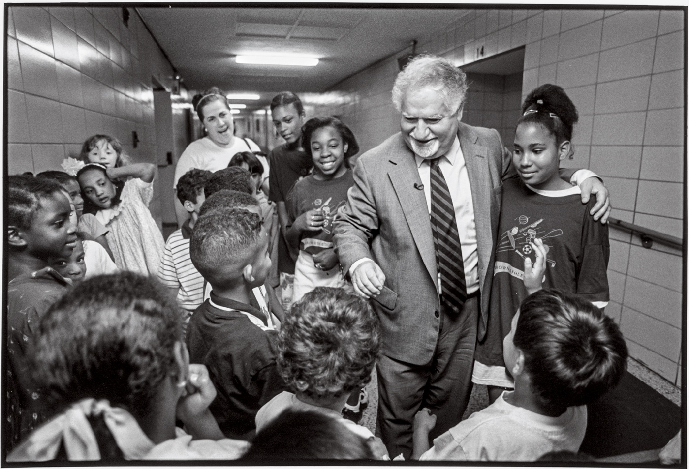 Gregorian in 1997 at the Providence elementary school that the city renamed in his honor.