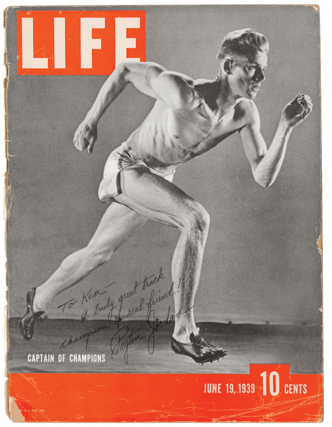 Image of Payton Jordan on the cover of Life