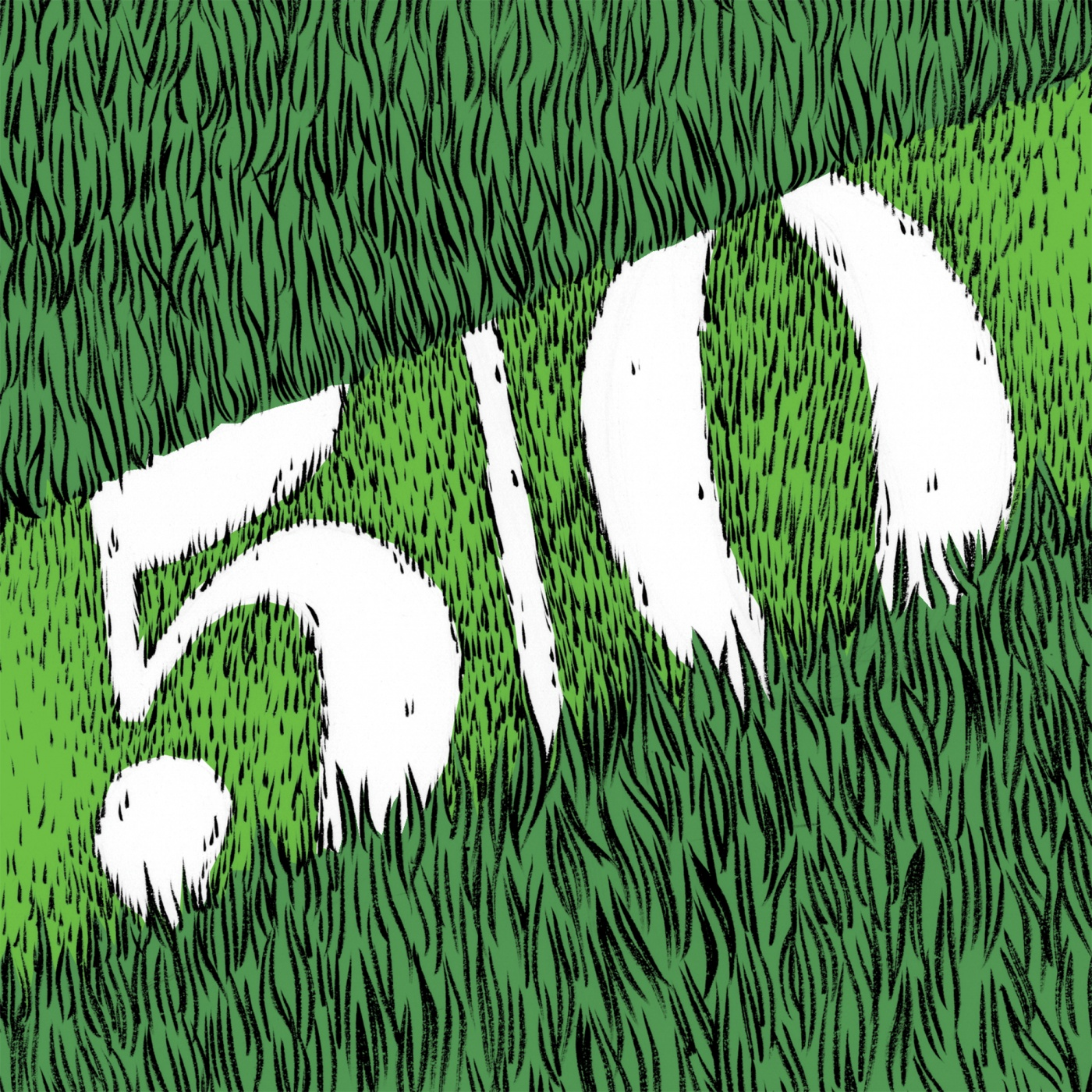 Illustration of 50 yard line by Kelsey Dake