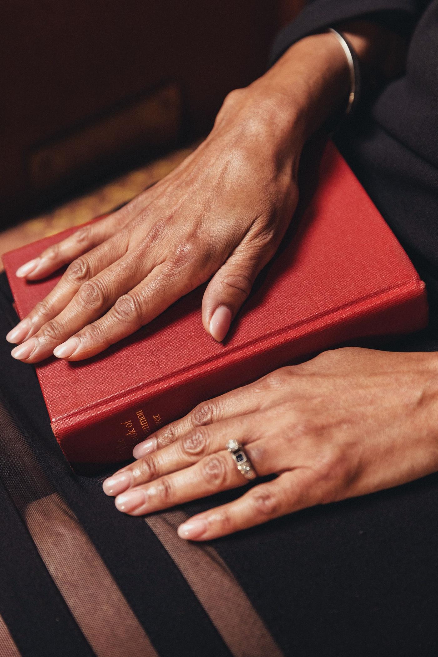 Image of Paula Clark's hands